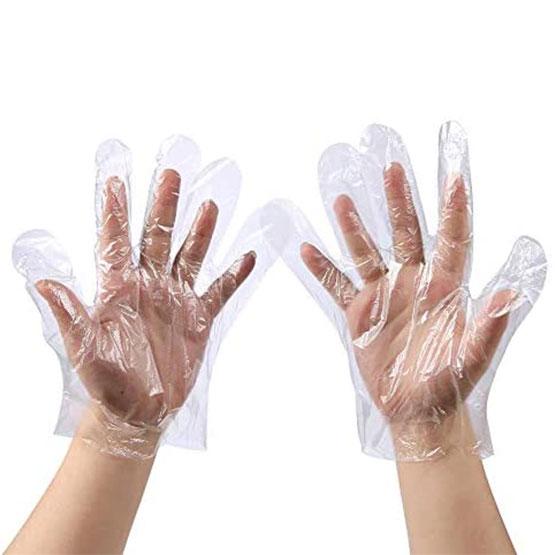 دستکش بهداشتی پلاستیکی 100 عددی