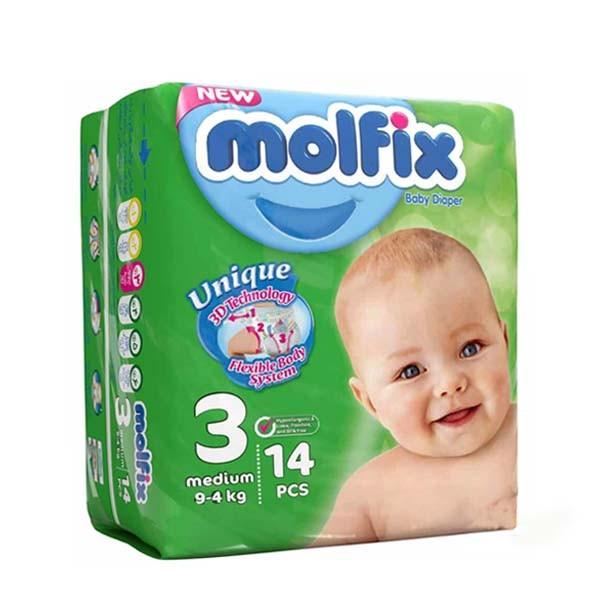 پوشک سایز (3) مولفیکس 4تا9 کیلوگرم 14 عددی