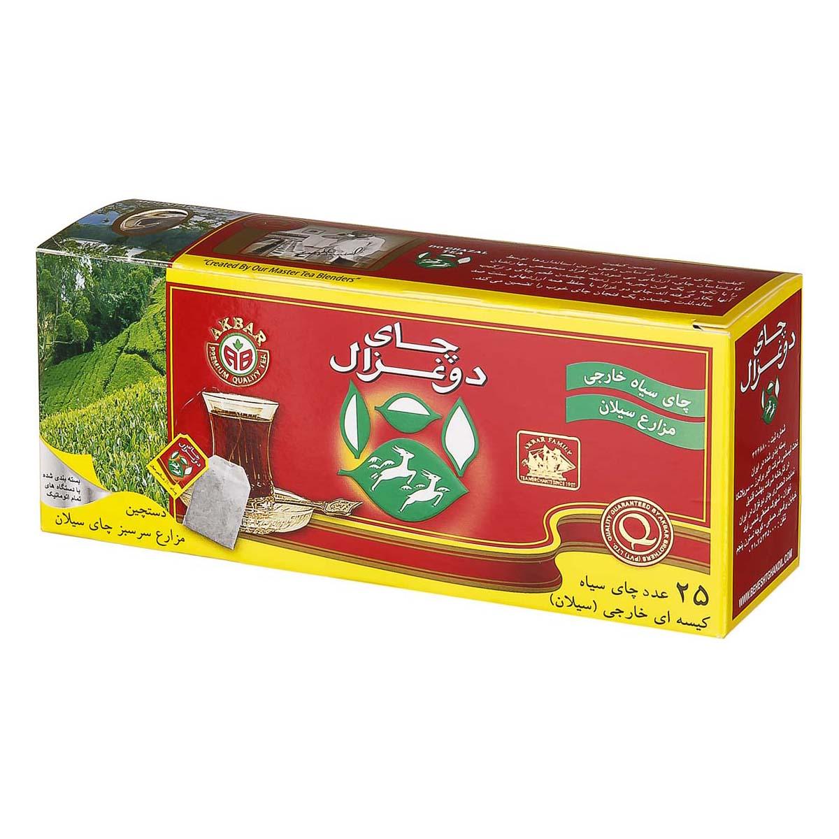 چای دو غزال تی بک ساده و عطر دار