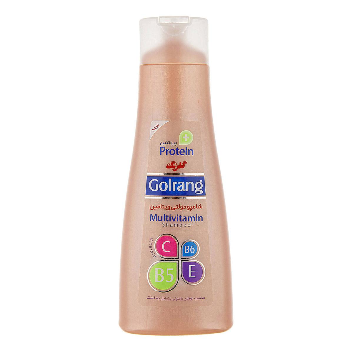 شامپو مولتی ویتامین گلرنگ ۹۰۰ مناسب موهای خشک