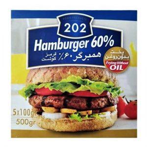 همبرگر 60 درصد گوشت قرمز202