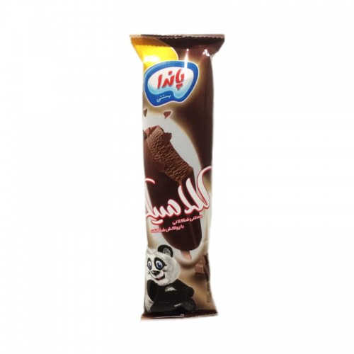 بستنی تکی شکلاتی با روکش شکلات پاندا