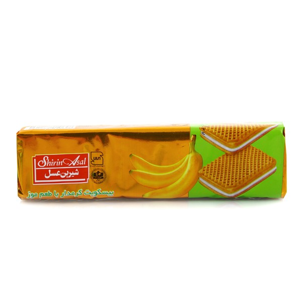 بیسکوئیت کرم دار موزی شیرین عسل