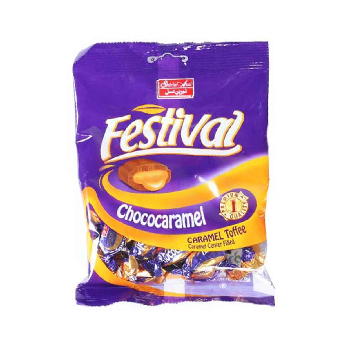 تافی کاکائوبامغزی کارامل فستیوال شیرین عسل